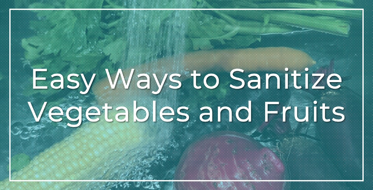 corn, beetroot, carrots being sanitized